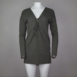 Olive green tunic dress